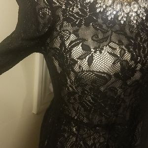 Dresses - Lace high low dress